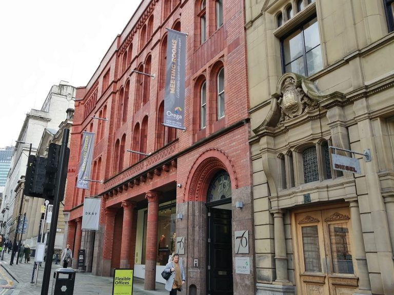 Recently refurbished office building on King Street, Manchester